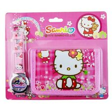 Pack CARTERA MONEDERO + RELOJ Hello Kitty   -  A1213