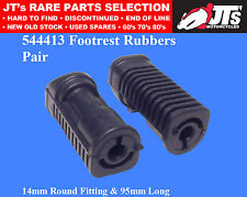 FOOTREST RUBBERS (PAIR) SUIT YAMAHA YB100 RS100 RXS100 RS125 T50 T80 LB50 LB80