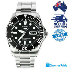 SEIKO 5 Sea Urchin SNZF17 SNZF17J JAPAN Sports Black Automatic Diver Mens Watch