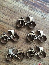 Wooden Mini BICYCLE EMBELLISHMENT Craft Card Scrapbook Art