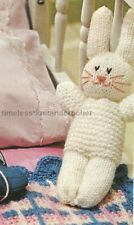 VINTAGE KNITTING PATTERN FOR EASY-TO-KNIT BUNNY - BEDTIME BABY TOY - EASTER