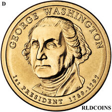 2007 D PRESIDENT GEORGE WASHINGTON UNCIRCULATED PRESIDENTIAL DOLLAR  #1D