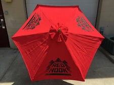Red Hook Redhook Beer Red Umbrella Patio Beach Pool  7 FT. - NEW & F/S 3 Logos