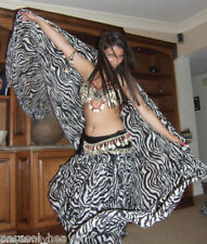VEIL - BLACK WHITE ZEBRA ANIMAL PRINT 45x108 Made India BELLY DANCE, BEACH WEAR