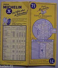 carte MICHELIN 71 LA ROCHELLE - BORDEAUX 1956