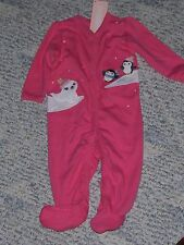 "NWT- Gymboree ""Playful Penguin"" pink sleep n play outfit - 5-9 pounds girls"