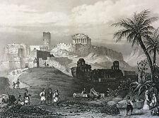 Athène l'Acropole Grèce impression Gilquin et Dupain circa 1859