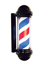 Barber Pole,All Black with Metal bracket, Plastic housing, on/off switch,6' cord