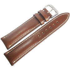 20mm Rios New York Cognac Brown Shell Cordovan Leather German Watch Band Strap