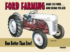 Ford Farming Model 8N Vintage TIN SIGN Metal Garage Wall Poster Made In America