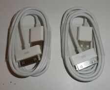 2X Dock Cnnector to USB Cable for iPhone/iPod with Apple 30 pin connector.