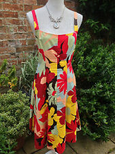 CLAUDIA STRATER Ladies floral print dress / sun dress size 40 / UK 12 - Cotton