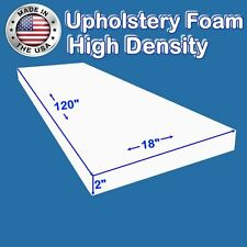 "High Density FoamTouch Upholstery Foam Cushion 2"" X 18"" X 120"" -free shipping"