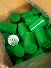(25) Green Squeeze Pop Top 30 Dram Prescription Container Pill Bottle Tubes Vial