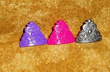 Crown,Princess,Queen,Cupcake Ring,Plastic,DecoPac,Bright Multi-Color,Party Favor