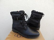 UGG KESEY BLACK LEATHER SHEEPSKIN WATERPROOF SNOW BOOTS, US 10/ EUR 41 ~ NEW