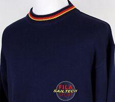 Vintage Fila Sport Sail Tech Navy Blue Cotton Sweater Men's Large