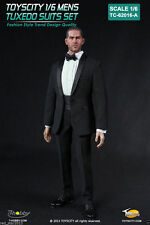 Toys City 1/6 Mens' Tuxedo Suits Sets Bespoke Tuxedo Clothing F 12'' Figure