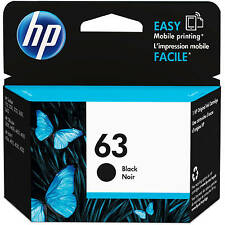 HP Genuine 63 Black Single Unit Ink Cartridge in Retail Box 2017