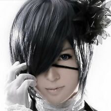 New Ciel Phantomhive Blue-gray Straight Anime Cosplay Party Hair Full Wig  No.18