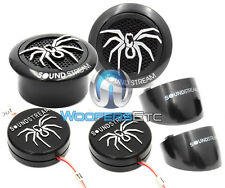"SOUNDSTREAM TWS.3N PEI 1"" DOME NEODYMIUM FLUSH MOUNT CAR TWEETERS & CROSSOVERS"