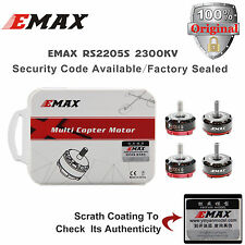 ORIGINAL 4pcs EMAX RS2205S 2300KV Brushless Motor 4CW Racing with Colorized Box