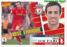 JOSE ENRIQUE LIVERPOOL.FC RARE LIMITED CRACKS MADE IN SPAIN STICKER PANINI 2014