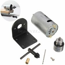 12-24V Mini Hand Drill DIY Lathe Press 555 Motor JT0 DrillChuck+Mounting Bracket