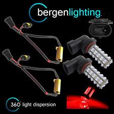 2X HB4 9006 ROUGE 60 LED AVANT PROJECTEUR PHARE LUMIÈRE KIT AMPOULES XÉNON