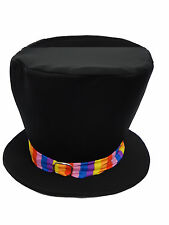 Childs Willy Wonka Tall Top Hat Fancy Dress Book Week with Free Golden Ticket UK