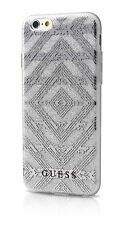 Genuine GUESS ASTEC 3D EFFECT Silver Case Cover for iPhone 6 6s 4.7""