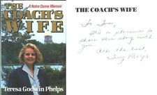 NOTRE DAME BASKETBALL COACH DIGGER PHELPS' WIFE TERRY PHELPS, 1994 BOOK **SIGNED