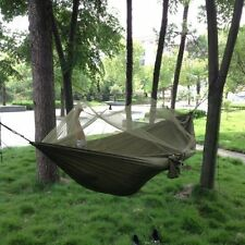 Portable High Strength Parachute Fabric Hammock Hanging Bed With Mosquito Net