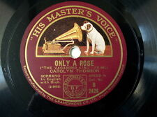 """78 rpm 10"""" DENNIS KING only a rose / song of the"""