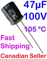 5pcs 47uF 100V 10x12.5mm Nichicon VZ For PC TV AUDIO VIDEO TFT ACL LCD PS DVD
