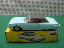 RARE Turquoise clair  FORD  THUNDERBIRD (USA)    - 1/43  Solido Serie 100  Mint