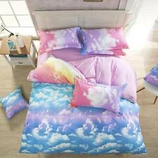 King Size Cloud Sky Zip Open Home Decor Bed Set Pillowcases Quilt Duvet Cover O