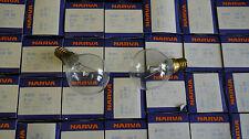 140 Narva 40W E14 Tropfenlampe klar Glühlampe Glühbirne DDR 225V Posten