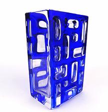 Modernist 60er Jahre WMF Nuppen Vase Kubus Design PHONE Bubble Glass Object 1960