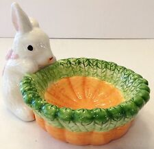 Easter Bunny Rabbit Candy Dish Container Decoration