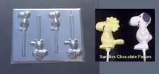 SNOOPY WOODSTOCK Lollipop Chocolate Soap Crayon Candy Lollipop Mold