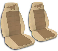 Front and Rear Tan & Brown Horse Seat Covers Ford Mustang 1994-2004 Convertible