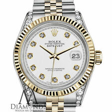 Genuine Rolex 31mm Datejust 18KGOLD SS 2Tone White Diamond Classic Jubilee Watch