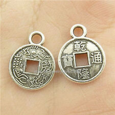 15396*100PCS Silver Vintage Mini Ancient Chinese Coins Pendants Alloy Antique