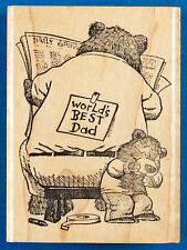 Joke on Dad Rubber Stamp Bear Cub Prank World's Best Dad Father's Day Delafield