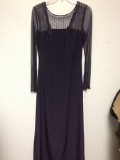 Jean De Lys Blue Dress Gown Size 4 New Without Tags