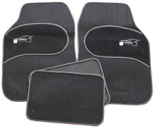 VW Golf Bora Eos Jetta Universal GREY Trim Black Carpet Cloth Car Mats Set of 4