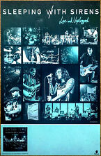 SLEEPING WITH SIRENS Live & Unplugged 2016 Ltd Ed RARE Poster +FREE Punk Poster!