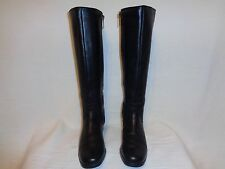 BLONDO BLACK WATERPROOF LEATHER ZIPPER BOOTS. SIZE W 7.5
