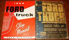 1956 Ford Truck Shop Manual All Models F-100 F-250 F-350-600 C-550 C-600 & Parts